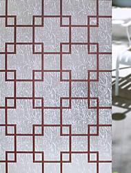 Недорогие -Геометрический принт Ретро Стикер на окна, ПВХ/винил материал окно Украшение Столовая Спальня Офис Детская Для гостиной Ванная комната