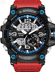 cheap -Men's / Unisex Sport Watch / Fashion Watch / Military Watch Alarm / Calendar / date / day / Water Resistant / Water Proof PU Band Black / Blue / Red / # / # / Luminous / Shock Resistant / Noctilucent