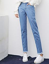 Pour States 2 Sign Qing Yun 2017 spring new explosion models denim trousers burr INS harem pants