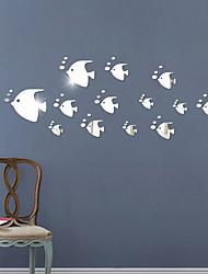 economico -Romanticismo Moda Tempo libero Adesivi murali Adesivi 3D da parete Adesivi  a parete specchio Adesivi decorativi da parete,Vetro Materiale