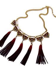 Femme Pendentif de collier Forme de Fleur Amitié Gland Simple Style Rouge Bijoux Pour Soirée 1pc