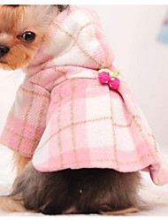 cheap -Dog Coat Dog Clothes Cute Fashion Color Block Pink Light Blue Costume For Pets