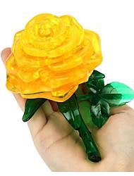 Недорогие -Пазлы 3D пазлы Строительные блоки Игрушки своими руками Розы Пластик Модели и конструкторы