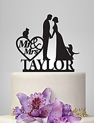 Cake Topper Garden Theme Classic Theme Fairytale Theme Rustic Theme Classic Couple Acrylic Wedding Anniversary Bridal Shower With OPP