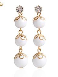 Per donna Orecchini a goccia Orecchino Orecchini Set Perle finteClassico Fantasia floreale Perle finte Di tendenza Adorabile stile