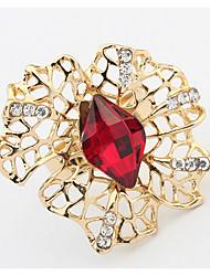 baratos -Mulheres Anéis Grossos Anel Diamante sintético Básico Original Com Logotipo Floral Flores Euramerican Bricolage Vitoriano Bijuterias