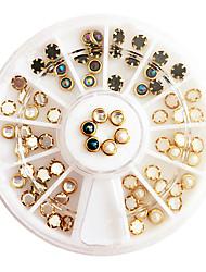 60PCS Mixed Colour Bordure Pearl Nail Decorator