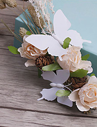 Flax Fabric Headpiece-Wedding Special Occasion Casual Outdoor Flowers 1 Piece