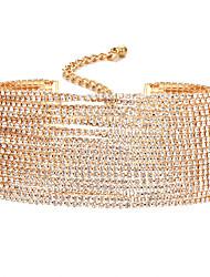 Недорогие -Жен. Синтетический алмаз Ожерелья-бархатки - Уникальный дизайн Золотой, Серебряный Ожерелье Бижутерия Назначение Свадьба, Для вечеринок, Повседневные