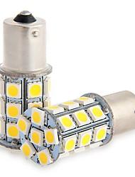 2pcs 1156 27 * 5050smd conduziu a luz morna do bulbo da luz do carro dc12v