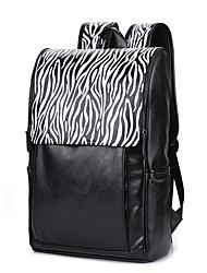 Недорогие -Для мужчин Мешки Полиуретан рюкзак для Для шоппинга Повседневные Спорт Официальные Офис и карьера Все сезоны Черный
