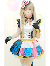 Outfits Sweet Lolita Lolita Cosplay Lolita Dress White Solid Short Sleeves Short / Mini For