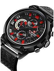 Недорогие -NAVIFORCE Мужской Спортивные часы Модные часы Наручные часы Повседневные часы Кварцевый Календарь С двумя часовыми поясами PU ГруппаCool