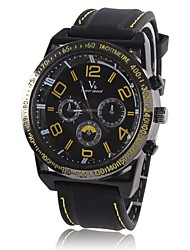 Two-Scale Atmosphere Big Dial Men's Sports Watch Fake Three Big Numbers Male Models Hot Watch