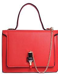 Donna Sacchetti Primavera Estate Autunno PU (Poliuretano) Tote per Matrimonio Serata/evento Casual Formale Nero Rosso Rosa Grigio Arm