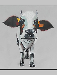 cheap -Hand-Painted Modern Abstract Lovely Cow Animal Oil Painting On Canvas Wall Art Picture For Home Decoration Ready To Hang