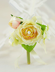 """cheap -Wedding Flowers Boutonnieres Party / Evening Engagement Bridal Shower Party/Cocktail Silk Cotton 1.57""""(Approx.4cm)"""