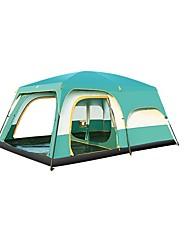 5-8 persone Tenda a cabina Doppio Tenda da campeggio Due camere con vestibolo Tende da campeggio formato famiglia per Campeggio Viaggi CM