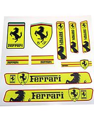 preiswerte -Auto Aufkleber Aufkleber Emblem Abzeichen PVC Stoßstange für Ferrari