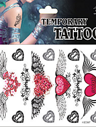 Temporary Tattoos Chest Body Romantic Series 3D Rose Waterproof Tattoos Stickers Non Toxic Glitter Large Fake Tattoo Halloween Gift 22*15cm