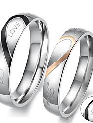 preiswerte -Ringe-Edelstahl-Gold Silber Schwarz