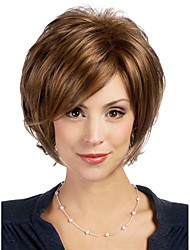 cheap -Synthetic Wig Wavy Brown Women's Capless Carnival Wig Halloween Wig Natural Wigs Short Synthetic Hair