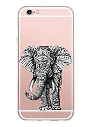 Per iPhone X iPhone 8 Custodie cover Ultra sottile Fantasia/disegno Custodia posteriore Custodia Elefante Morbido TPU per Apple iPhone X