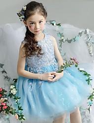 vestito dalla ragazza di fiore del bicchierino / mini abito di sfera - collo organizzato del giada sleeveless con l'increspatura di ydn