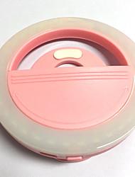 Luz do telefone móvel levou auto-timer lâmpada usb cobrança beleza flash luz da noite built-in bateria de lítio rosa