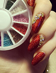 cheap -Pearls Glitters Flower Fashion Neon & Bright High Quality Daily Nail Art Design