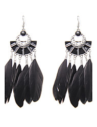 cheap -Women's Drop Earrings - Unique Design / Logo Style / Turkish Black / Blue / As Picture Wings / Feather Earrings For Wedding / Party /