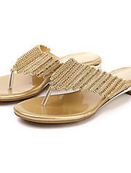 preiswerte -Damen Schuhe Mikrofaser Sommer Herbst Komfort Neuheit Fersenriemen Club-Schuhe Sandalen Walking Flacher Absatz Stöckelabsatz Offene Spitze
