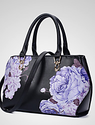 Women Bags All Seasons PU Shoulder Bag for Office & Career White Black Wine