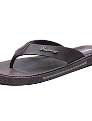 Masculino-Chinelos e flip-flops-Conforto-Rasteiro--Couro Ecológico-Ar-Livre