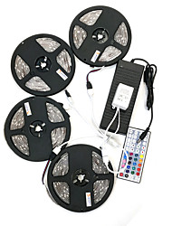 ZDM 20M(4*5M) Waterproof 120W 600LEDs 5050 RGB Strip Flexible Light 44Key Remote Controller Kit 10A Power Supply AC110-240V