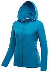 cheap -LEIBINDI Women's Hiking Jacket Outdoor Waterproof Quick Dry Windproof Dust Proof Breathable Jacket Top Double Sliders Camping / Hiking