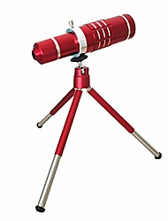 Chinese red mobile phone external lens 18 times telescope long shot telephoto lens 18X telephoto with metal clip