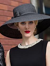 economico -Tulle / Vimini cappelli / Cappelli con Fantasia floreale 1pc Matrimonio / Occasioni speciali / Casual Copricapo
