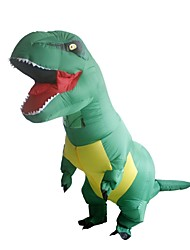 cheap -Dinosaur Cosplay Costume Waterproof  Costume Inflatable Costume Halloween Props Movie Cosplay Leotard / Onesie Air Blower Halloween