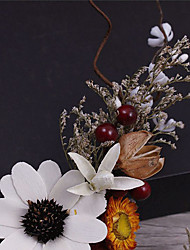 Flax Fabric Headpiece-Wedding Special Occasion Casual Outdoor Wreaths Hair Pin 3 Pieces