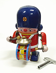cheap -Robot Wind-up Toy Toys Machine Robot Drum Set Iron Metal Vintage 1 Pieces Children's Gift