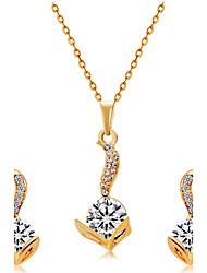 Ciondoli Collana Orecchini Set imitazione diamante Di tendenza Euramerican Cristallo Lega testa 1 collana 1 paio di orecchini Per