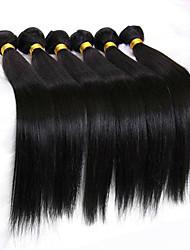 cheap -Low Price 6Pcs/Lot 8-26inch Peruvian Virgin Straight Hair Natural Black Wavy Human Hair Bundles.