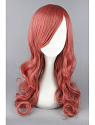 cheap -Medium Final Fantasy13-EclairFarron Pink Mixed Curly 26inch Anime Cosplay Wigs CS-173A
