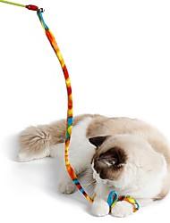 economico -Giocattolo per gatti Giocattoli per animali Interattivo Rompicapi Pieghevole Corda Tubo Gatto Tessuto Per animali domestici