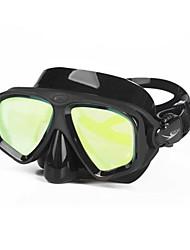 Недорогие -Маска для снорклинга / Очки для подводного плавания Защитный Два окна - Плавание, Дайвинг Силикон, Стекловолокно - для Взрослые Желтый /