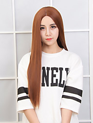 cheap -Women Synthetic Wig Long Straight Brown Natural Wigs Costume Wig