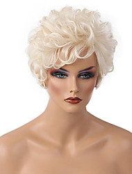 cheap -Human Hair Capless Wigs Classic Curly High Quality Medium Auburn White Daily