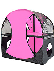 Cat Bed Luxury Wheel of Fun Pet Baskets Solid Foldable Tent Rose