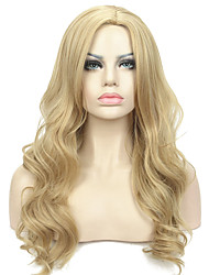 Long Layers Wavy in Dark Blonde Full Synthetic Wigs